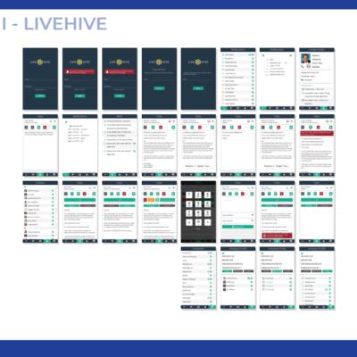 UX/UI LiveHive Mobile
